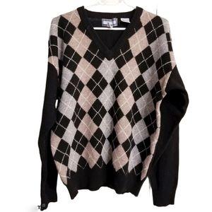 Vintage Woodward's 100% Lambswool Argyll Sweater